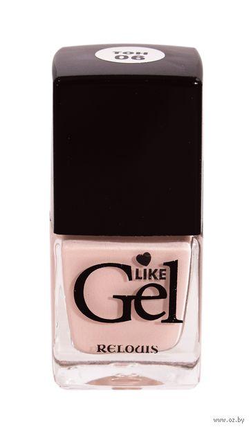 """Лак для ногтей """"Like Gel"""" (тон: 06, песочный бисквит) — фото, картинка"""