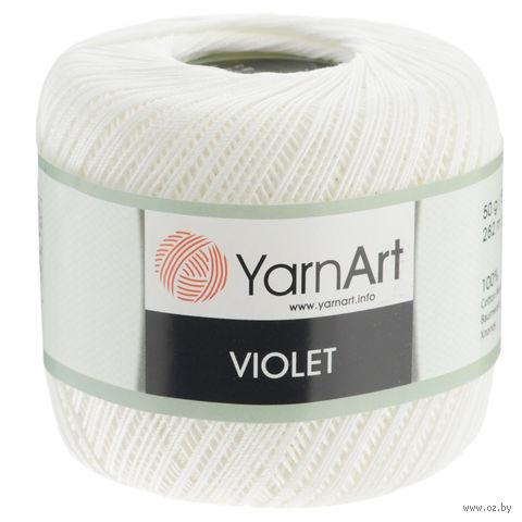 """Пряжа """"YarnArt. Violet №3"""" (50 г; 282 м; белый) — фото, картинка"""