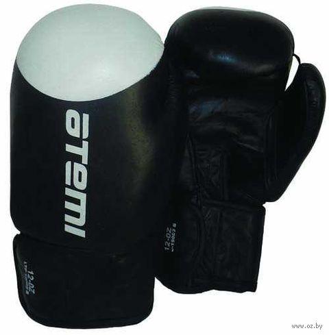 Перчатки боксёрские LTB19009 (8 унций; чёрно-белые) — фото, картинка