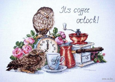 """Вышивка крестом """"Время пить кофе"""" (260х210 мм) — фото, картинка"""
