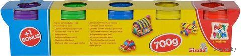Тесто для лепки (5 цветов; арт. 6322264) — фото, картинка