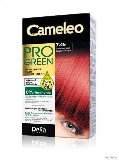 """Краска для волос """"Cameleo Pro Green"""" (тон: 7.45, интенсивный красный) — фото, картинка"""