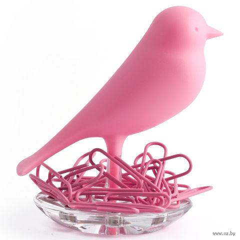 """Держатель для скрепок """"Sparrow"""" (розовый)"""