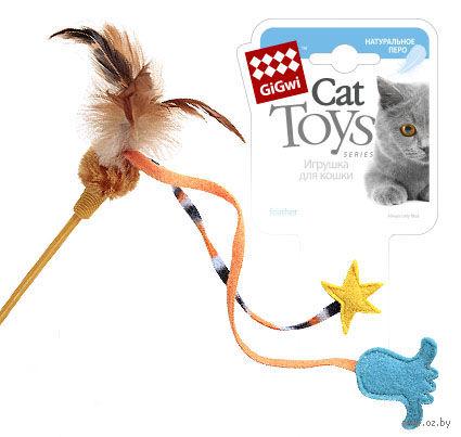 Дразнилка для кошек на стеке (45 см; арт. 75267)