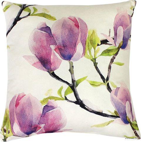 "Подушка ""Сиреневые цветы"" (35x35 см; арт. 09-238) — фото, картинка"