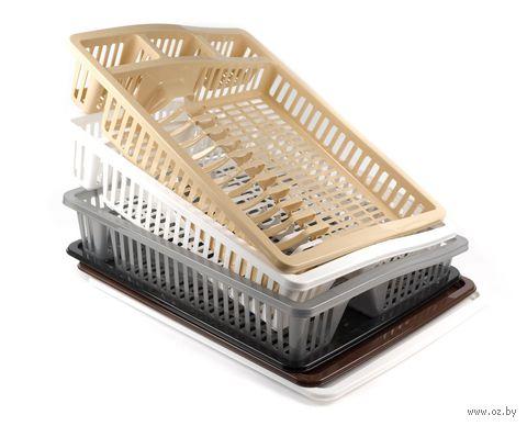 Лоток для посуды с поддоном (46х37х6,5 см; арт. 07105R)