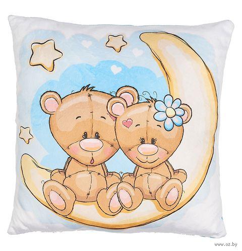 """Подушка """"Мишки на Луне"""" (33x33 см; арт. 30.47.2) — фото, картинка"""