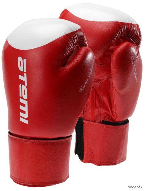Перчатки боксёрские LTB19009 (14 унций; красно-белые/мишень) — фото, картинка