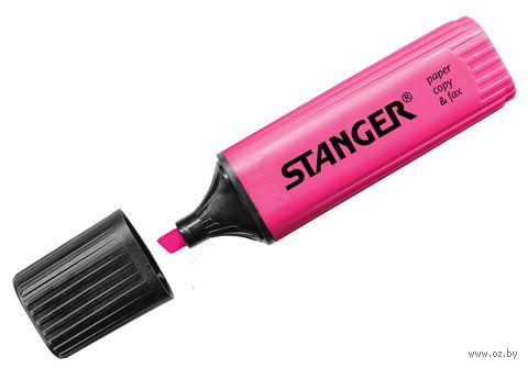 Маркер текстовыделитель (розовый; 5 мм)
