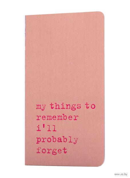"Записная книжка Молескин ""Chapter. My Things to Remember"" в точку (карманная; мягкая розовая обложка)"