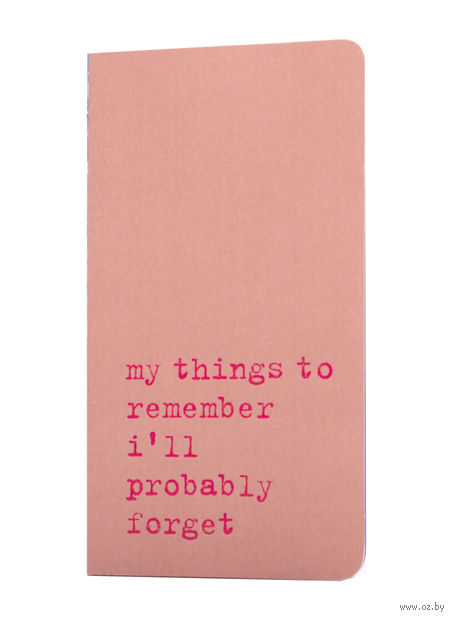 "Записная книжка в точку ""Chapter. My Things to Remember"" (75х140 мм; розовая) — фото, картинка"