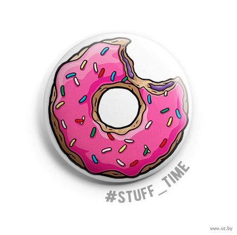"""Значок маленький """"Симпсоны. Пончик"""" (арт. 001) — фото, картинка"""