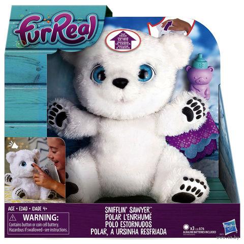 """Мягкая интерактивная игрушка """"Полярный медвежонок"""" (25 см) — фото, картинка"""