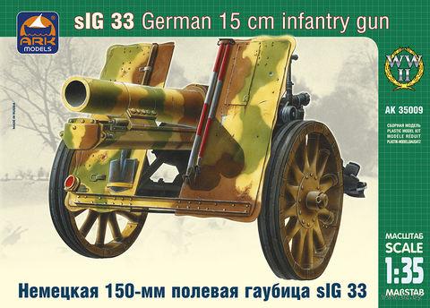 """Сборная модель """"Немецкая 150-мм полевая гаубица sIG 33"""" (масштаб: 1/35) — фото, картинка"""