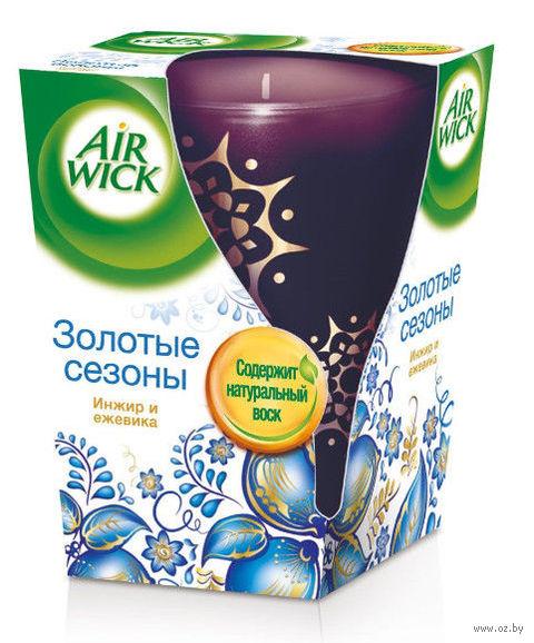 """Ароматизированная свеча Air Wick """"Золотые сезоны. Инжир и Ежевика"""" (155 г)"""