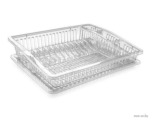 Сушилка для посуды пластмассовая (460х370х65 мм; арт. 07106R) — фото, картинка