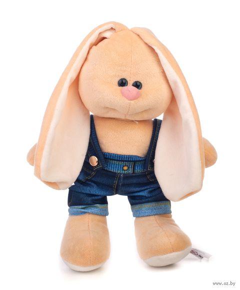 "Мягкая игрушка ""Заяц Саша. В джинсах"" (28 см) — фото, картинка"