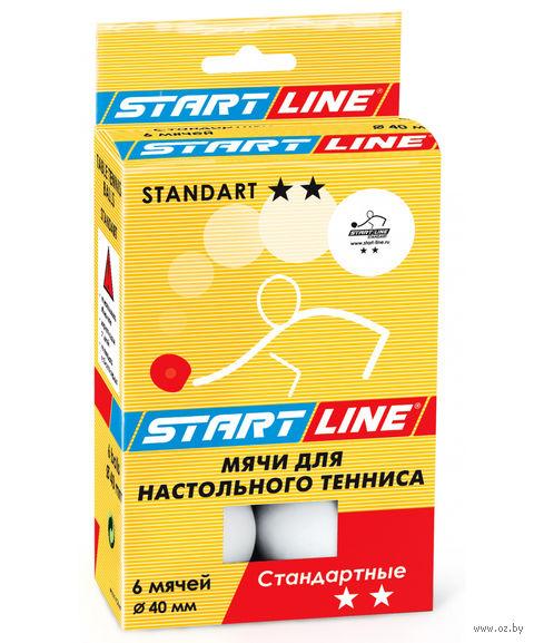 """Мячи для настольного тенниса """"Standart"""" (6 шт.; 2 звезды) — фото, картинка"""