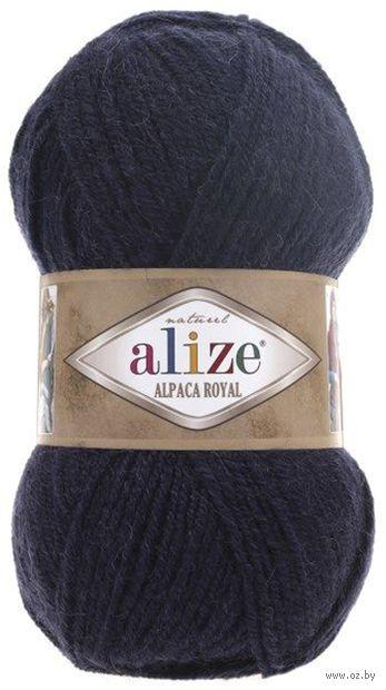 "Пряжа ""ALIZE. Alpaca Royal №58"" (100 г; 250 м; темно-синий) — фото, картинка"