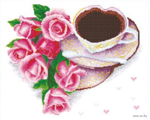 """Вышивка крестом """"Кофе для любимой"""""""