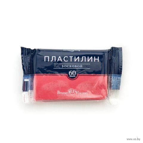 Пластилин восковой (60 г; красный) — фото, картинка