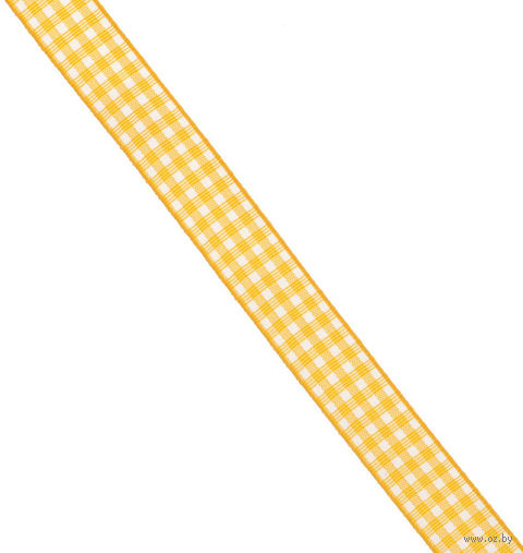 "Подарочная лента ""Brunnen"" (желтая) — фото, картинка"