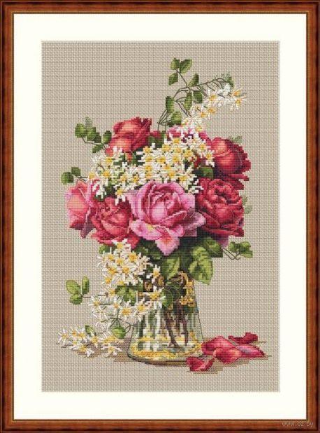 """Вышивка крестом """"Розы"""" (220х320 мм) — фото, картинка"""