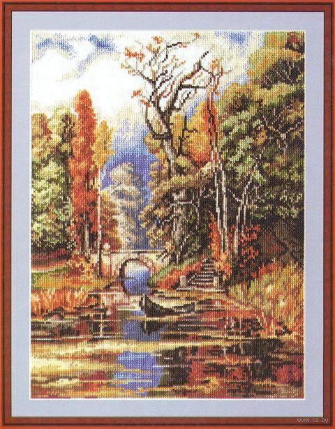 """Вышивка крестом """"Осенью в парке"""" (270х360 мм) — фото, картинка"""