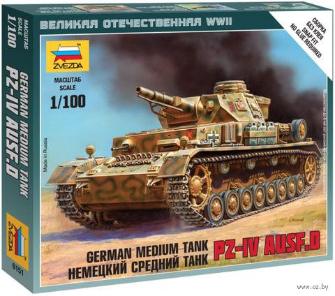 Немецкий средний танк Pz-IV Ausf.D (масштаб: 1/100)