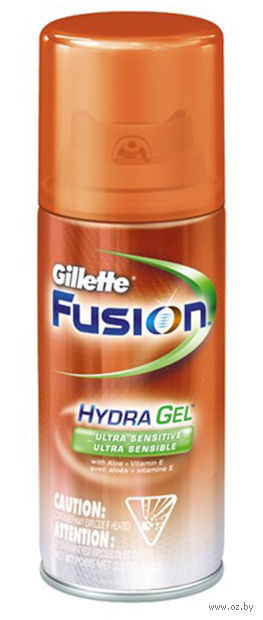 "Гель для бритья ""Fusion. Hydra gel sensitive skin"" (75 мл)"