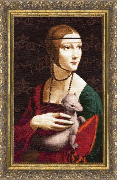 "Вышивка крестом ""Дама с горностаем"" (440х270 мм) — фото, картинка"