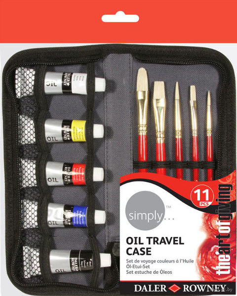 """Набор для рисования """"Travel"""" в пенале (масляные краски)"""