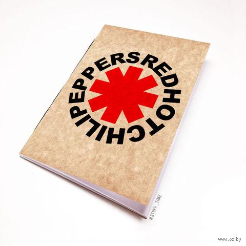 """Блокнот крафт """"Red Hot Chili Peppers"""" А7 (арт. 035)"""