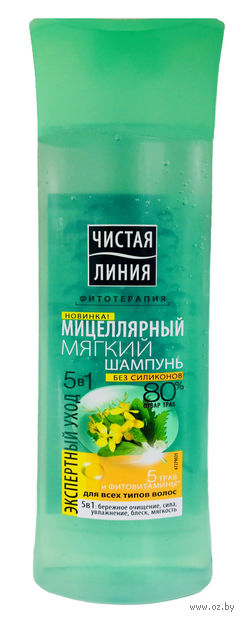 "Шампунь для волос ""Сила 5 трав"" (250 мл) — фото, картинка"
