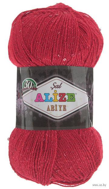 "Пряжа ""ALIZE. Sal Abiye №56"" (100 г; 410 м; красный) — фото, картинка"