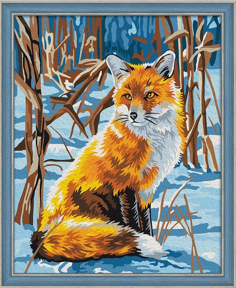 """Картина по номерам """"Лисица на снегу"""" (400х500 мм) — фото, картинка"""