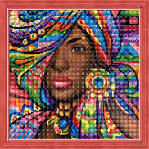 """Алмазная вышивка-мозаика """"Гана"""" (400х400 мм) — фото, картинка"""