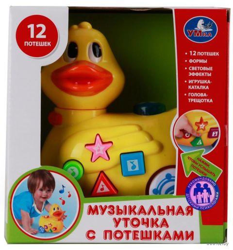 """Музыкальная игрушка """"Уточка"""" (со световыми эффектами; арт. B795360-R) — фото, картинка"""