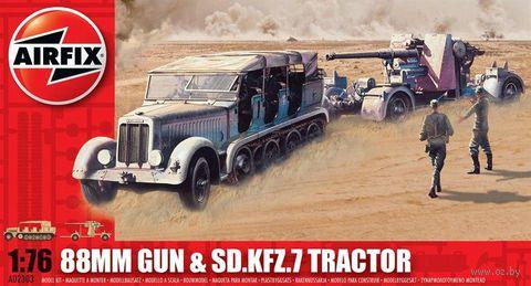 """Набор техники """"88mm Gun & Sd.Kfz.7 Tractor"""" (масштаб: 1/76) — фото, картинка"""