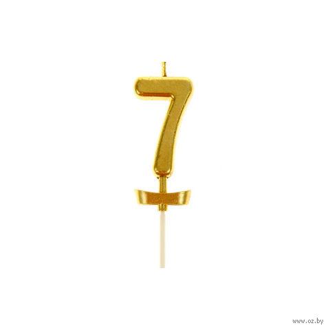 """Свеча для торта """"Цифра 7"""" (2х5,5 см; арт. 10749764)"""