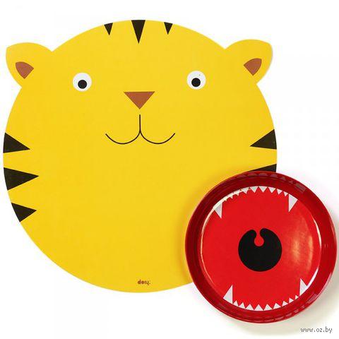 "Коврик и миска ""Hungry tiger"""