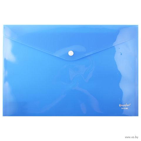 """Папка-конверт на кнопке """"Darvish"""" (А4; цвет: ассорти)"""