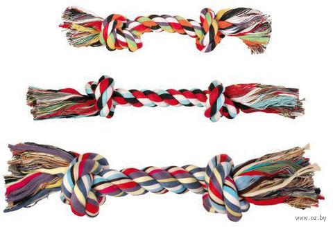 """Игрушка для собаки """"Веревка с двумя узлами"""" (15 см) — фото, картинка"""