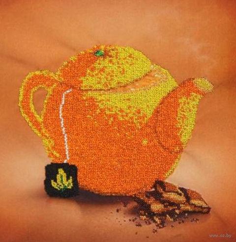 """Вышивка бисером """"Апельсиновый чай"""" (300х300 мм) — фото, картинка"""