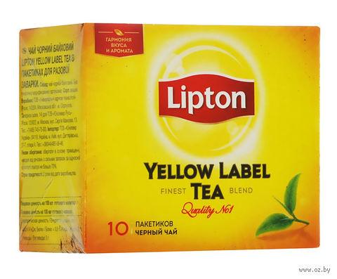 """Чай черный """"Lipton. Yellow Label"""" (10 пакетиков) — фото, картинка"""