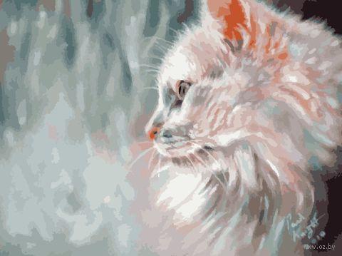 "Картина по номерам ""Мечтающий кот"" (400х500 мм) — фото, картинка"