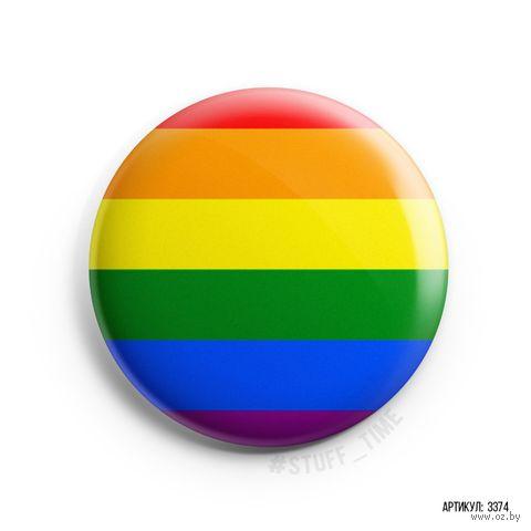 "Значок маленький ""Rainbow"" (арт. 3374) — фото, картинка"