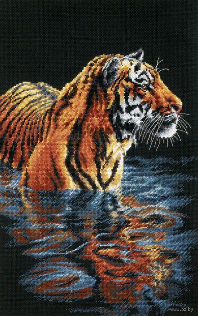 "Вышивка крестом ""Купающийся тигр"" (арт. DMS-35222)"