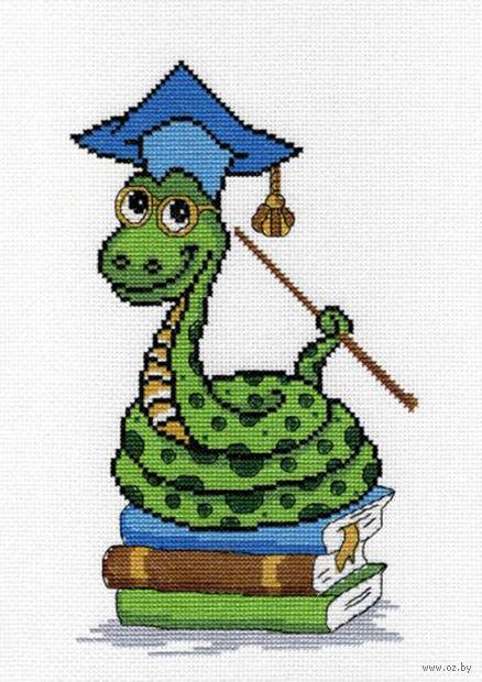 """Вышивка крестом """"Змея-знайка"""""""