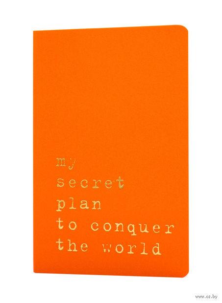 """Записная книжка Молескин """"Volant. My Secret Plan"""" в линейку (карманная; мягкая оранжевая обложка)"""